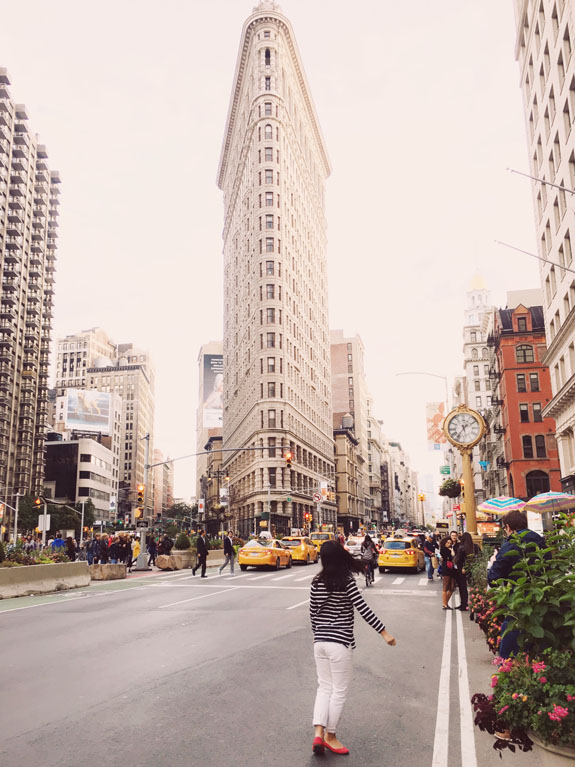 most instagrammable places in NYC flatiron building