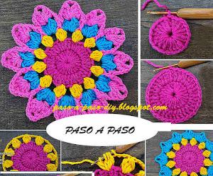 Cómo Tejer Flor Mandala Fácil Crochet / DIY