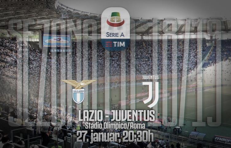 Serie A 2018/19 / 21. kolo / Lazio - Juventus, nedelja, 20:30h