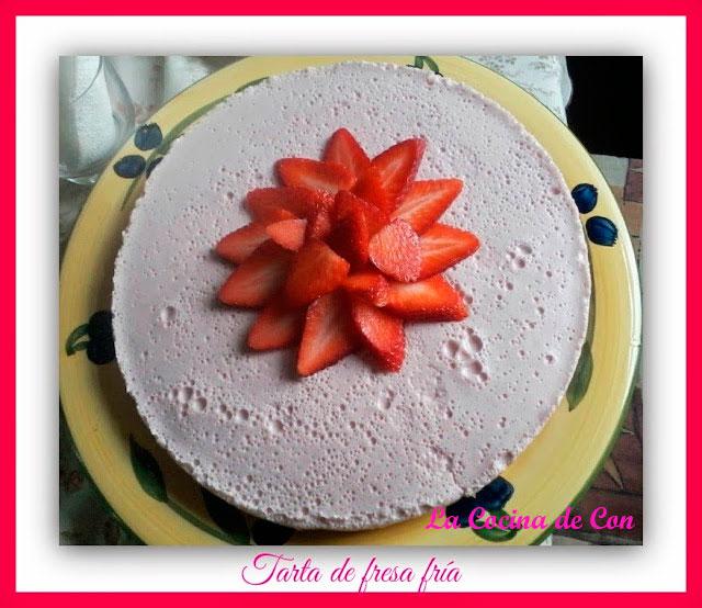 Tarta de fresa fría