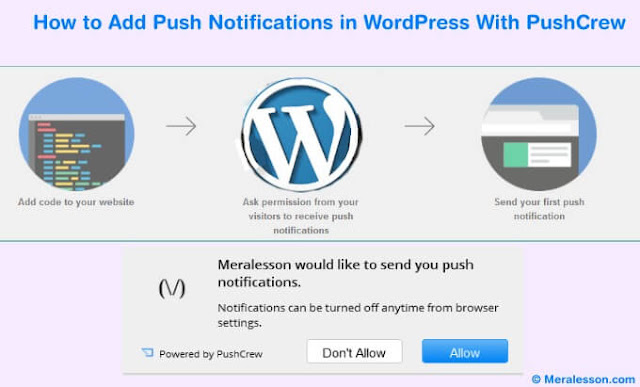 How to Add Push Notifications in WordPress With PushCrew