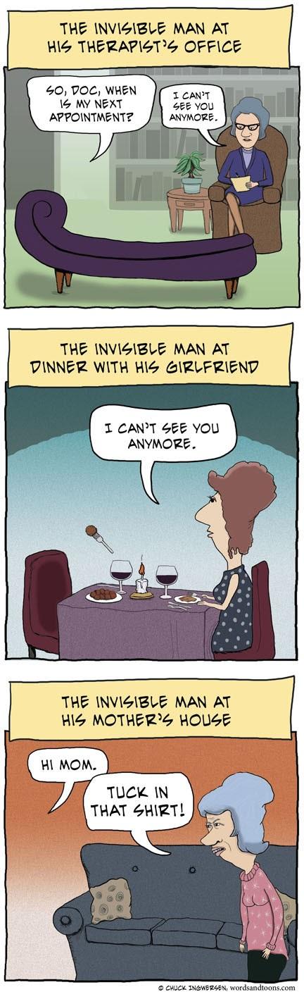 Meme de humor sobre El hombre invisible