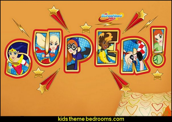 DC Super Hero Girls Super Logo Wall Decal