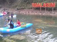 Perahu Aluminium di arena Wisata Tegal Arum Gunung Kidul