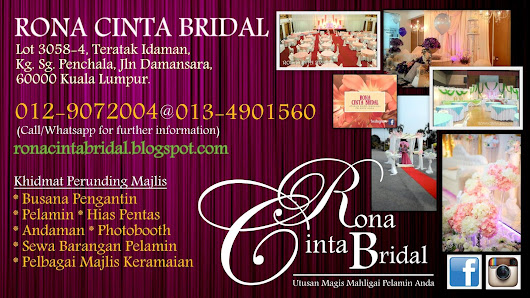 Rona Cinta Bridal : All In One For Bride & Groom-to-be