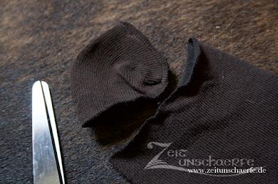 Steampunk-Faun Hufe | Socken vorbereiten | www.zeitunschaerfe.de