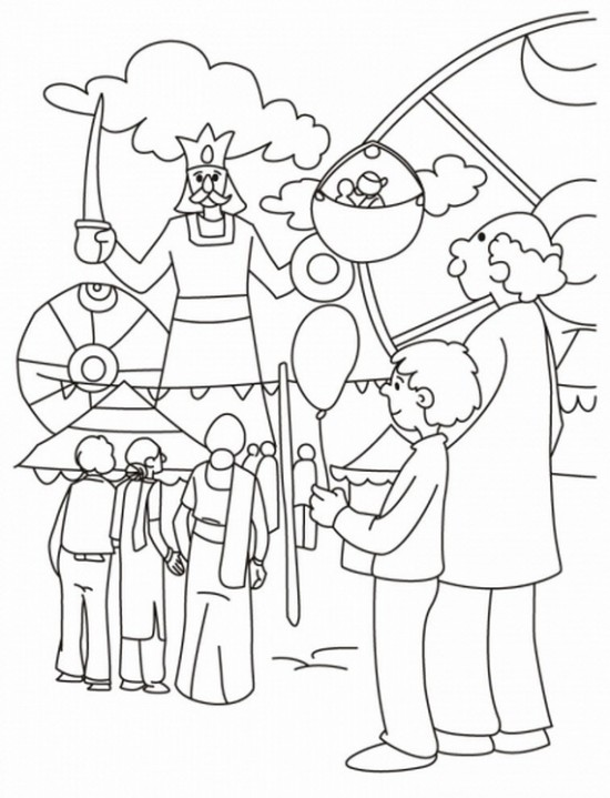 download happy dussehra drawing art sketch coloring pics pages for kids - Sketch For Kids