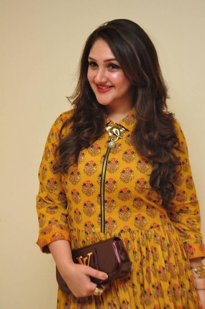 Actress Sridevi Vijaykumar Stills In Yellow Dress