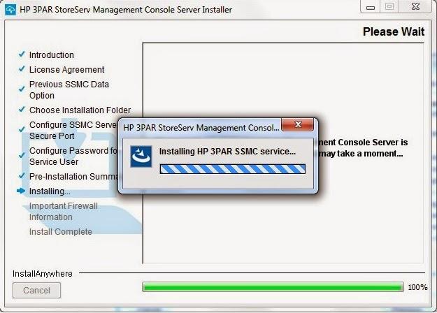 HP 3PAR SSMC (StoreServ Management Console) Installation  Admin Helpline