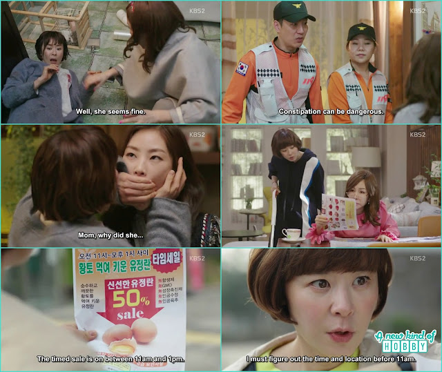 the 119 rescue team help seol ok sneaked into the bathroom the next day her mother in law ask her to buy 5 tray of eggs which were on half price -  seung Queen of Mystery: Episode 2