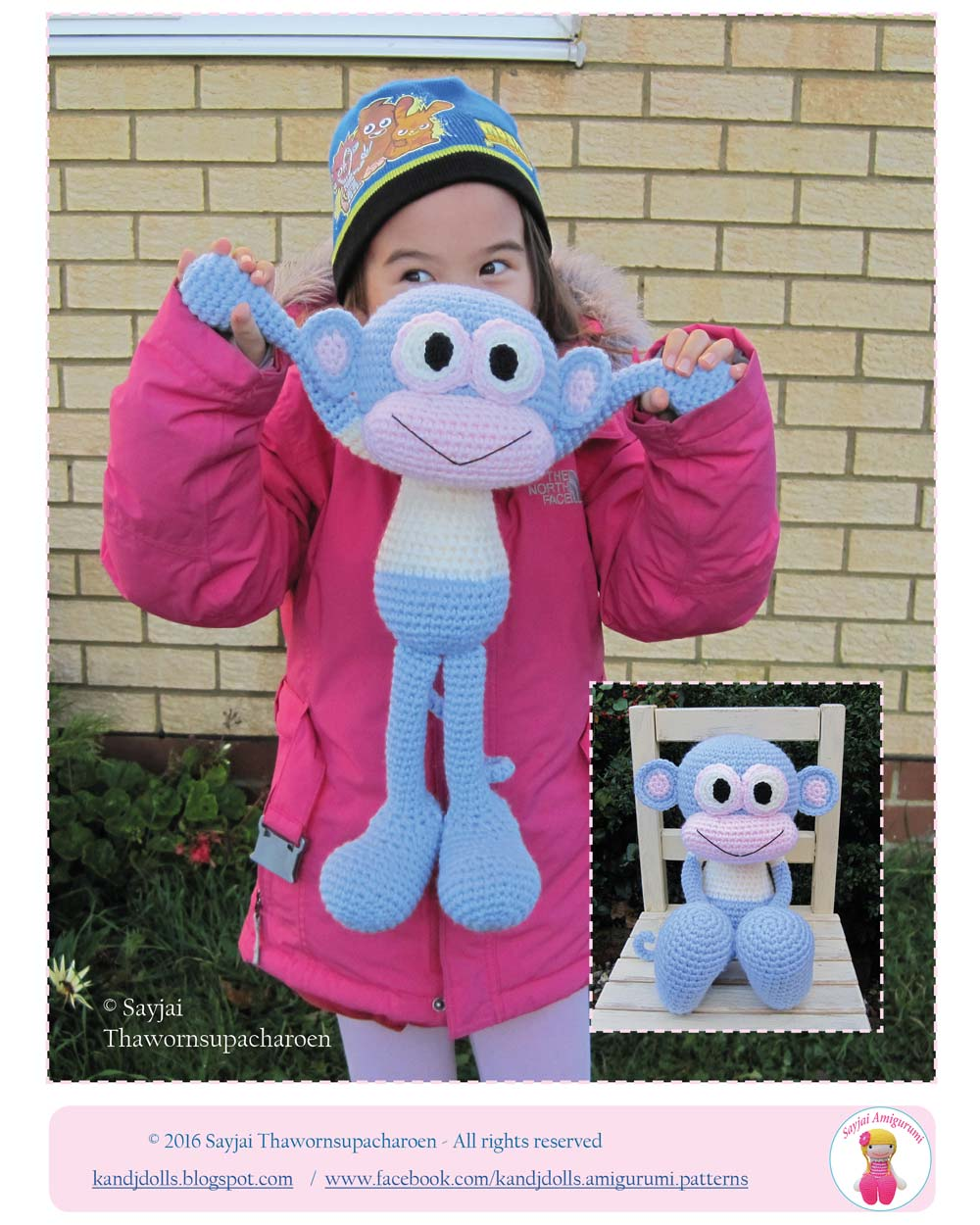 Huggy Monkey Crochet Pattern - Sayjai Amigurumi Crochet Patterns ~ K ...