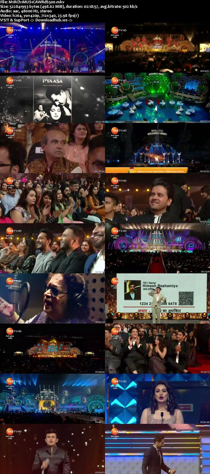 Mirchi Music Awards 18th March 2018 480p HDTV