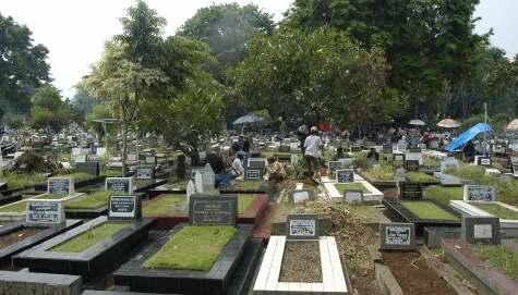 Gambar kurubutan atau pemakaman umum di Indonesia
