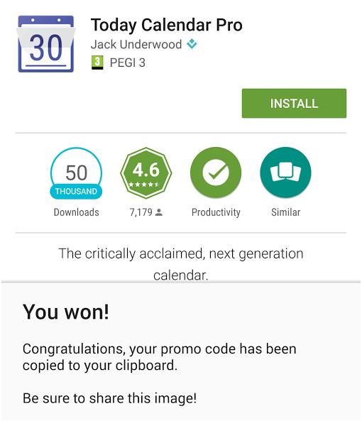 تطبيق Promo Codes سيعطيك فرصة للحصول على التطبيقات المدفوعة مجاناً