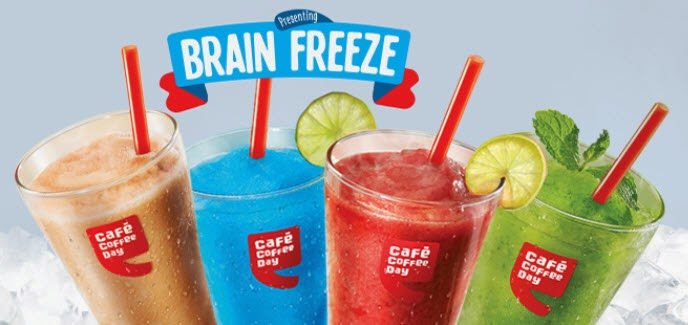 Cafe Coffee Day Brain Freeze Slushes