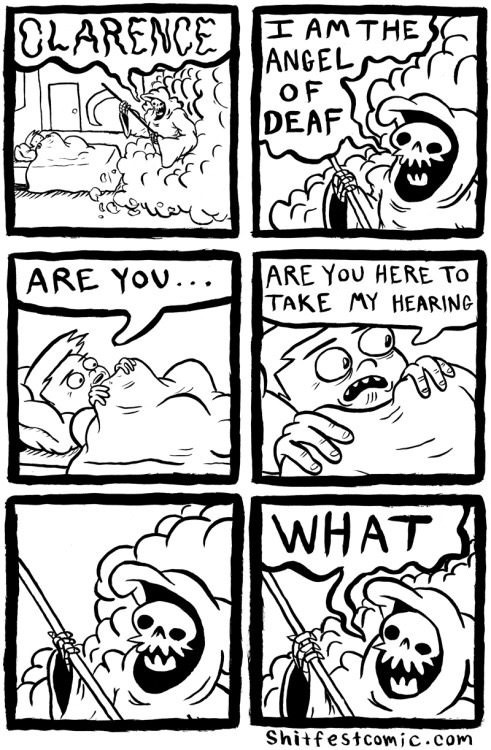 Funny Angel of Deaf Cartoon Picture