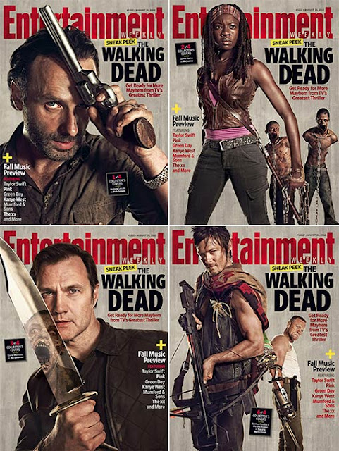 Entertainment Weekly Issue 1222 The Walking Dead Season 3 Covers – August 31, 2012 - Andrew Lincoln as Rick Grimes; Danai Gurira as Michonne, David Morrissey as The Governor, Norman Reedus as Daryl Dixon & Michael Rooker as Merle Dixon