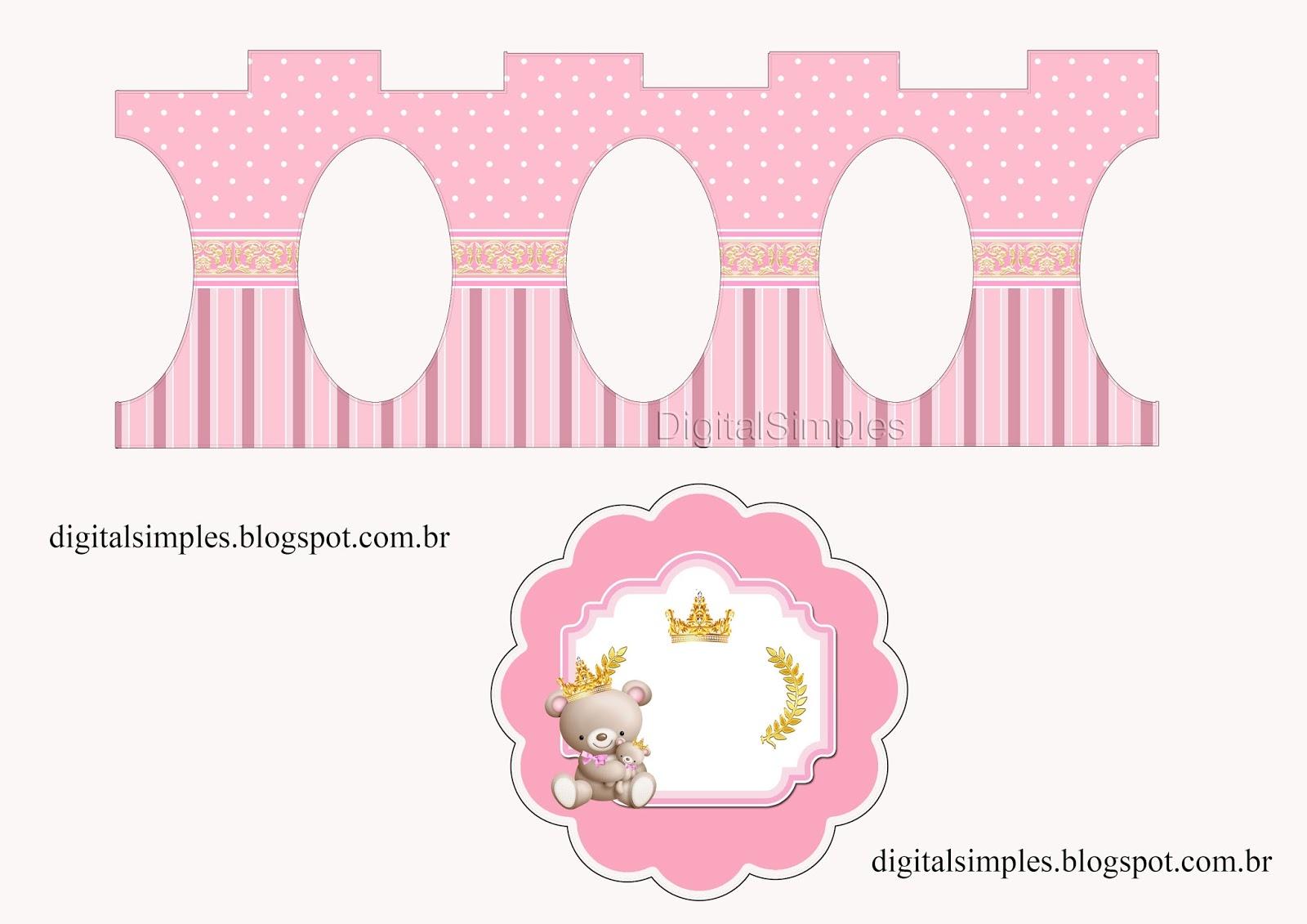 Osita Princesa con Bebé: Stand para Cupcakes para Imprimir Gratis ...
