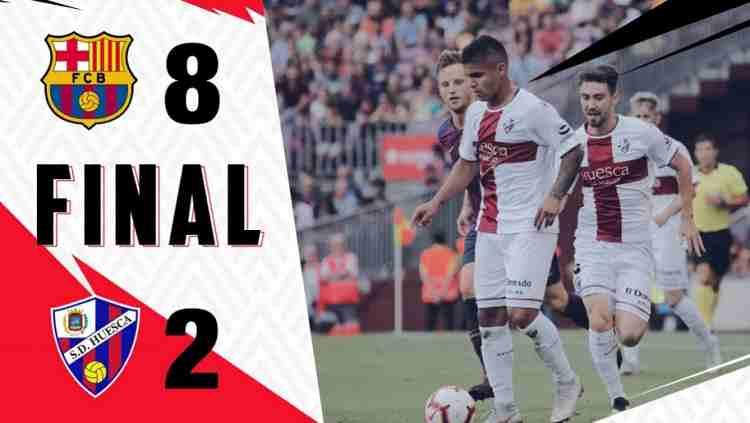 Hasil Barcelona vs Huesca Skor Akhir 8-2 [La Liga 2018]