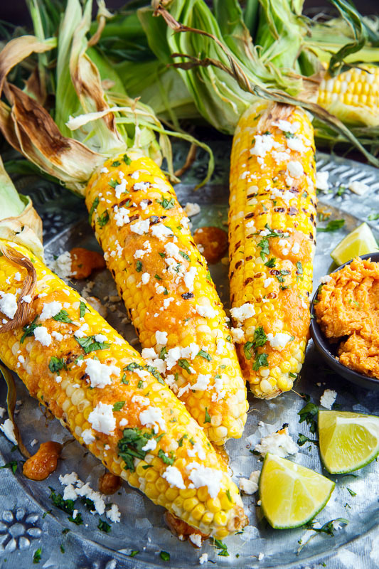 Sriracha Maple Miso Butter Grilled Corn on Closet Cooking