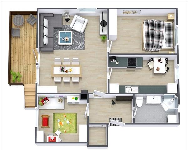 Denah Rumah Minimalis 1 Lantai Ukuran 6x12 Bergaya Trendi Info Paguntaka