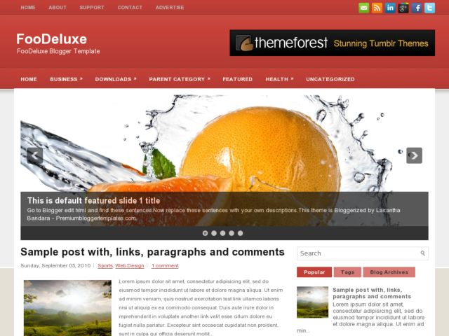 FooDeluxe Blogger Template