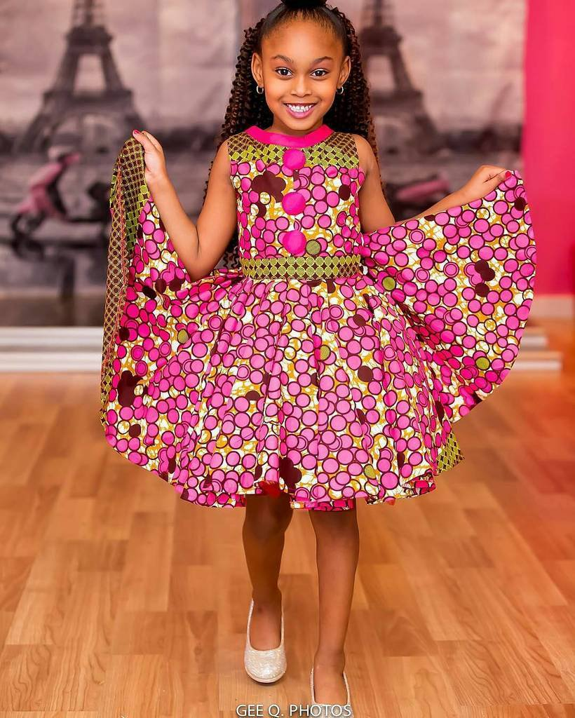 top 25 cutest african ankara female baby dresses to wear in 2018