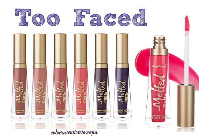 Labiales líquidos Melted Matte de Too Faced en Aliexpress