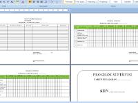 Download Format Program Supervisi dan Format Jadwal Supervisi Kelas Terbaru