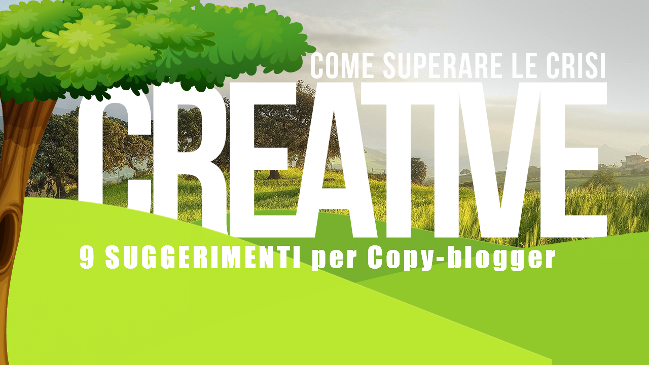 blocco scrittore crisi creativa blogger blogging content marketing