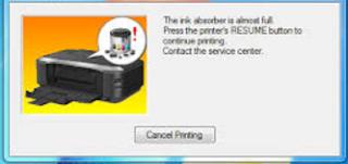 Cara Reset Canon IP 3680