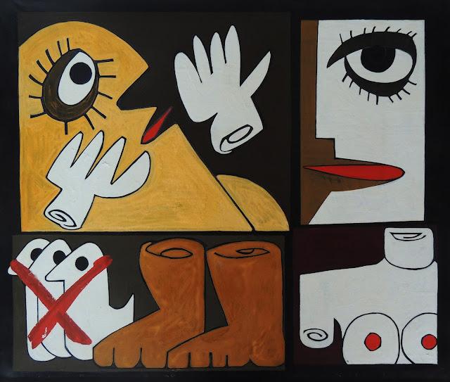 Antonio García Patiño óleo sobre lienzo cuadro dadófonos