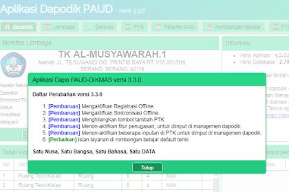 Download Aplikasi Dapodik (PAUD) v.3.3.0 Tahun Ajaran 2018/19
