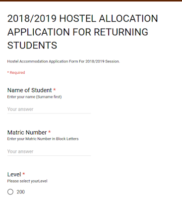Hostel Registration Form