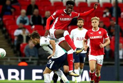 image of Ike Ugbo in a match versus Tottenham