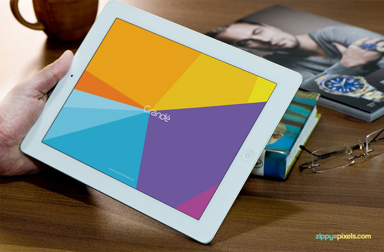 Photorealistic Mockup of iPad PSD