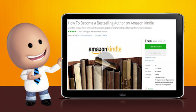 [100% Off] How To Become a Bestselling Author on Amazon Kindle| Worth 200$