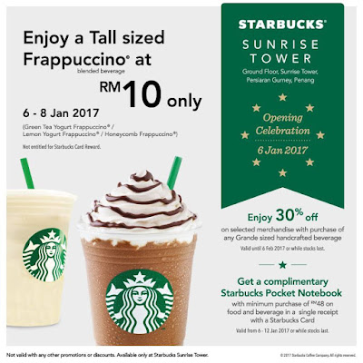 Starbucks Malaysia Tall Sized Frappuccino Discount Special Opening Promo