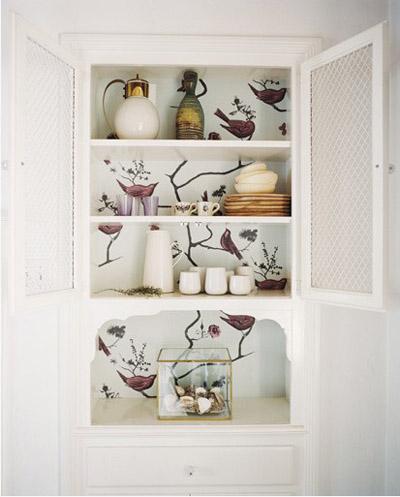 Cosas de palmichula forrar muebles con papel pintado - Casas decoradas con papel pintado ...