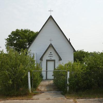 church, Empress, Alberta, historical