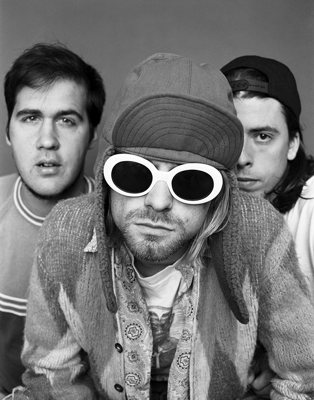 Image result for kurt cobain white glasses