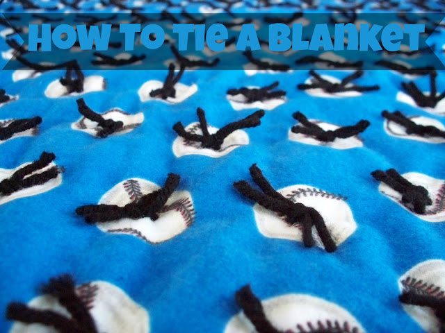 tie knot quilt blanket