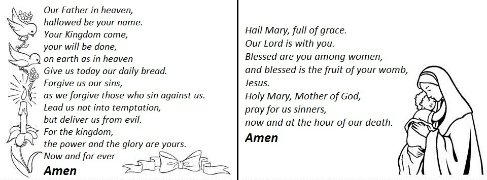 hail mary prayer coloring pages for children - photo #11
