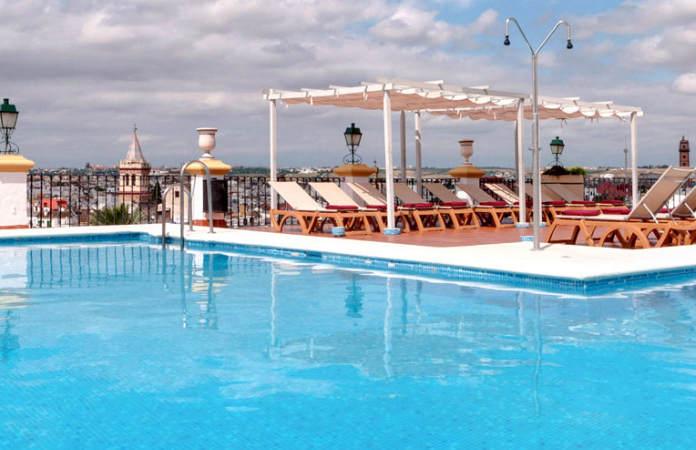 Piscina ático Hotel Tryp Macarena Sevilla