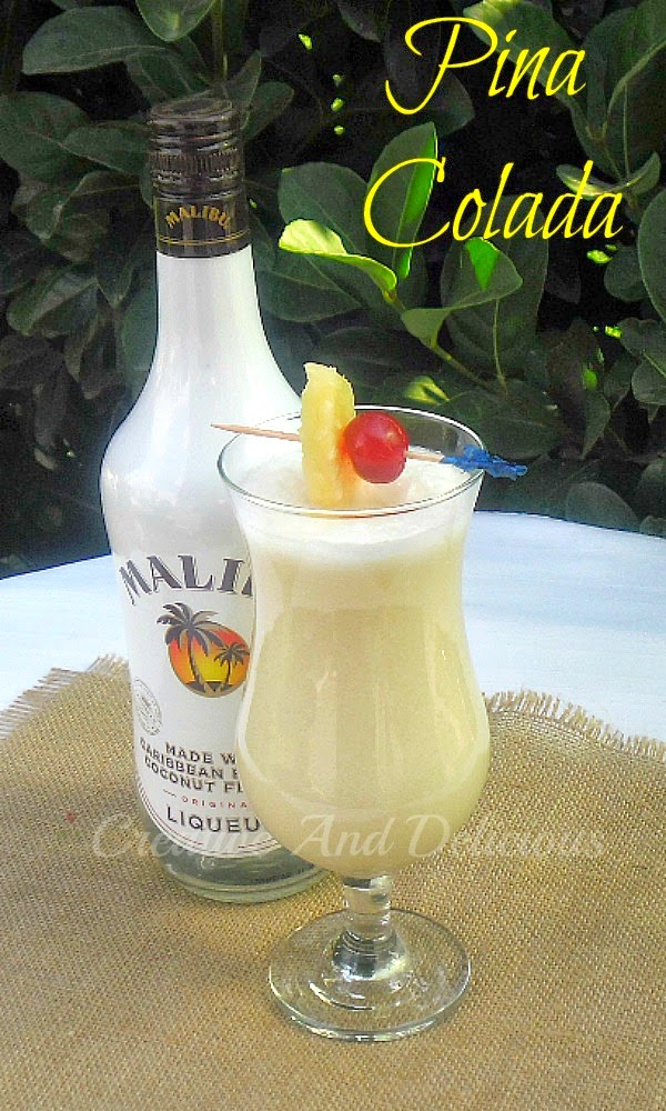 Pina Colada ~ Delicious tropical cocktail ~ enjoy as is, or try the non-alcoholic version ! #PinaColada #CocktailRecipe #AlcoholicDrink #NonAlcoholicVersion