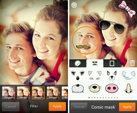 Cymera photo editing app useful for creating funny photos Android Google Playstore
