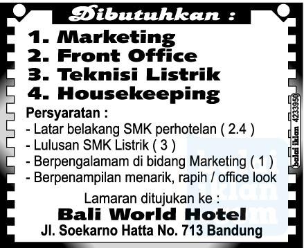 Lowongan Kerja Hotel Di Bandung Lowongan Kerja Terbaru Indonesia 2021