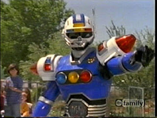 Power Rangers Turbo Blue Senturion Saban Carranger Signalman