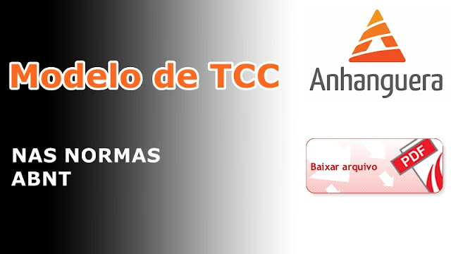 Modelo de TCC Faculdade Anhanguera