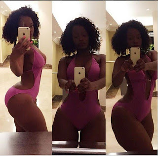 See the hot photos of the richly endowed Kenyan model Corazon Kwamboka